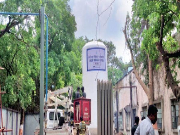 बीएसपी ने बीटीआई पोस्टल में बनाया कोविड केयर सेंटर। - Dainik Bhaskar