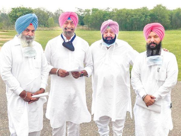 मुख्यमंत्री अमरिंदर सिंह और अन्य लोग। - Dainik Bhaskar