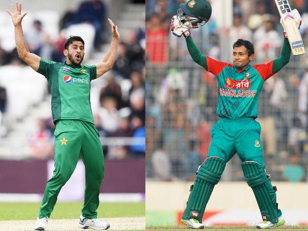 पाकिस्तान के हसन अली की टक्कर बांग्लादेश के मुशफिकुर रहीम से है। दोनों ने मई में शानदार प्रदर्शन किया था। - Dainik Bhaskar