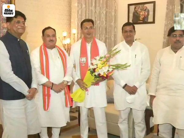 जितिन प्रसाद भाजपा अध्यक्ष जेपी नड्डा से भी मिले।