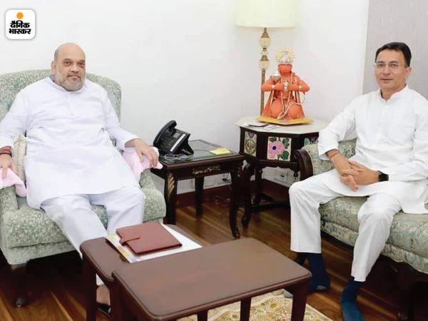 जितिन प्रसाद ने गृहमंत्री अमित शाह से भी मुलाकात।
