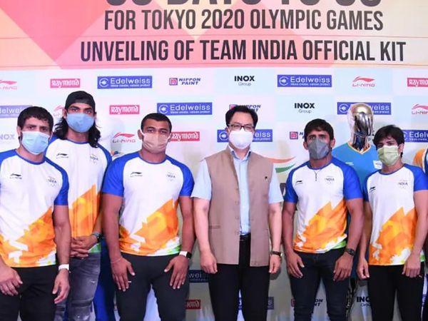 इंडियन ओलिंपिक एसोसिएशन ने हाल ही में ली निंग का किट लॉन्च किया था। - Dainik Bhaskar