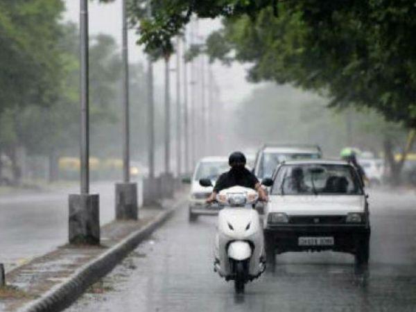 पटना में बुधवार सुबह करीब दो घंटे बारिश हुई। - Dainik Bhaskar