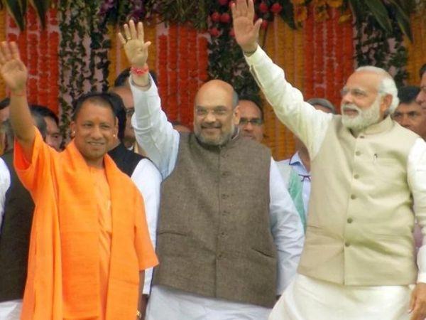 मुख्यमंत्री योगी आदित्यनाथ शुक्रवार को प्रधानमंत्री नरेंद्र मोदी से मुलाकात करेंगे। (फाइल फोटो) - Dainik Bhaskar
