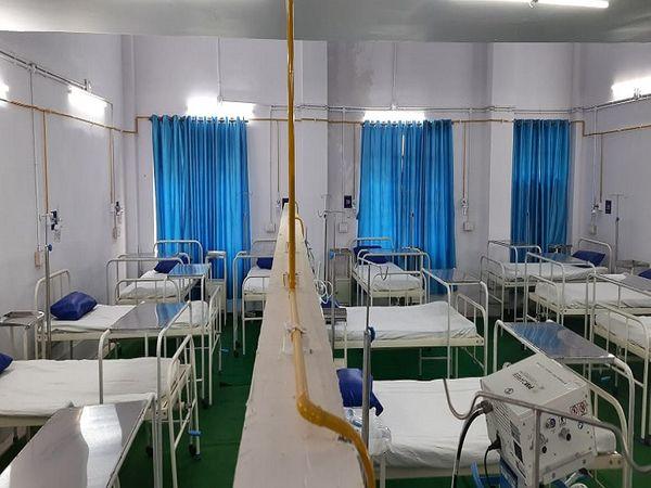 BSP ने जम्बो कोविड केयर सेंटर बनाया है।
