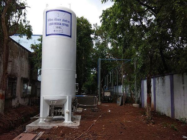 लिक्विड मेडिकल ऑक्सीजन प्लांट स्थापित किया गया है।