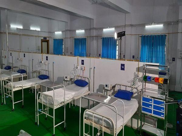 भिलाई में 114 बेड के कोविड केयर सेंटर का उद्धघाटन किया गया। - Dainik Bhaskar