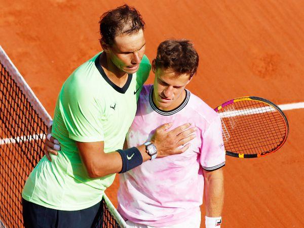 Nadal after winning the match against Schwartzman.