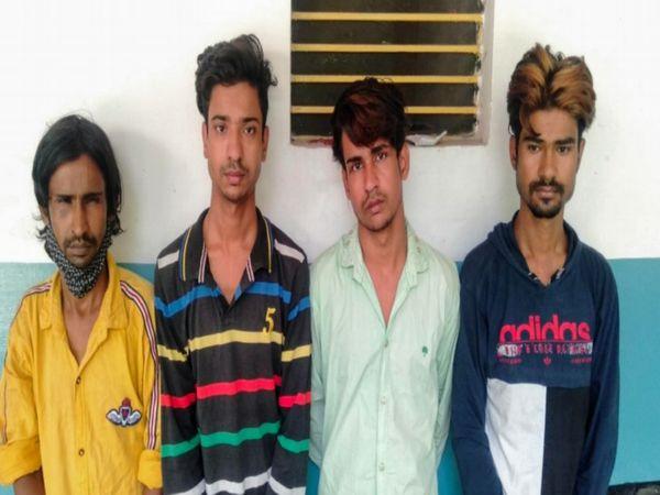 जयपुर के गलतागेट इलाके में जीजा शाहिन की हत्या करने के मामले में गिरफ्तार चारों भाई - Dainik Bhaskar
