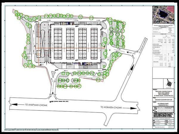 मल्टी स्टोरी पार्किंग 3 फ्लोर की होगी। ग्राउंड फ्लोर में दुकान व पहली, दूसरी फ्लोर में पार्किंग होगी। - Dainik Bhaskar