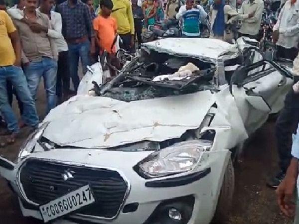 सड़क हादसे में 3 भाइयों की मौत हो गई। मृतकों में दो सगे भाई हैं। - Dainik Bhaskar