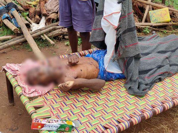 मृतक के परिवार वाले और ग्रामीणों ने वनपाल और थाना को खबर कर मुआवजे की मांग की है। - Dainik Bhaskar