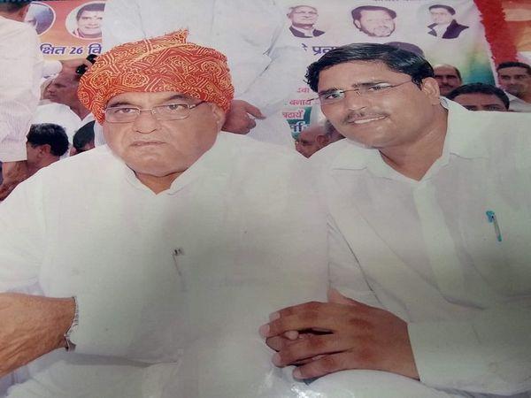 हरियाणा के पूर्व CM भूपेंद्र सिंह के साथ। - Dainik Bhaskar