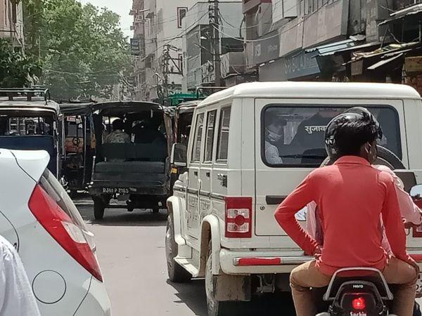 श्रीगंगानगर की स्टेशन रोड।