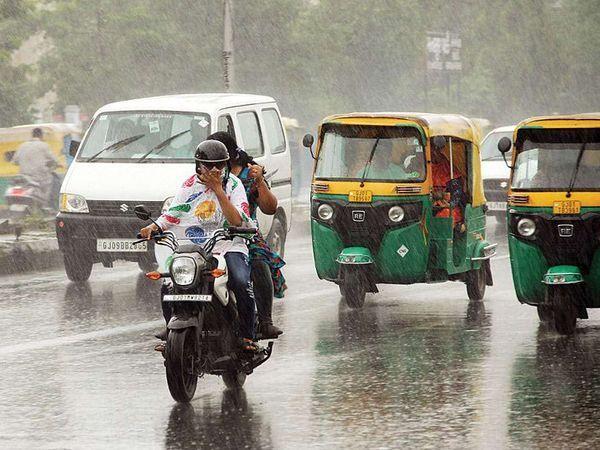 मौसम विभाग ने गुजरात में 5 दिनों तक भारी बारिश का अनुमान जताया है।