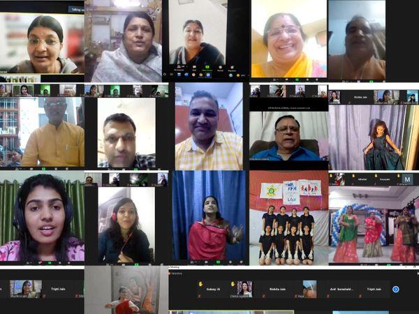 ऑनलाइन प्रशिक्षण शिविर में शामिल लोग। - Dainik Bhaskar