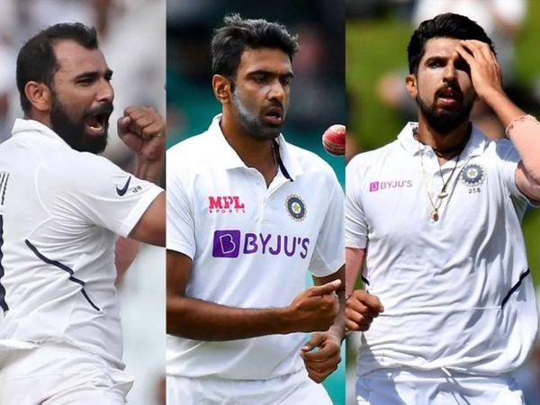 फाइनल में टीम इंडिया को जिताने की जिम्मेदारी टीम के 3 अनुभवी गेंदबाजों पर होगी। इसमें मोहम्मद शमी, रविचंद्रन अश्विन और ईशांत शर्मा शामिल हैं। - Dainik Bhaskar