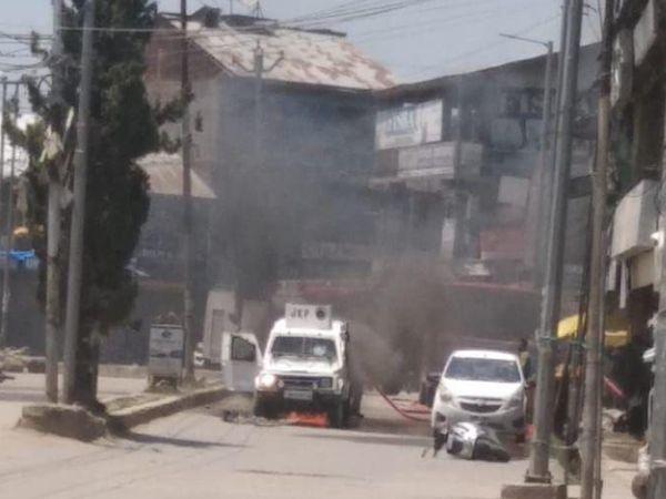 बीते शनिवार को सोपोर में हुए आतंकी हमले में पुलिस गाड़ी को टारगेट किया गया था।