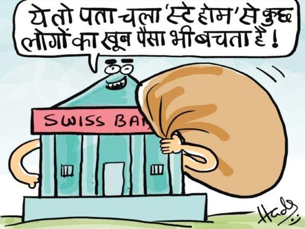 2019 में भारतीयों के 6625 करोड़ रुपए जमा थे। - Dainik Bhaskar