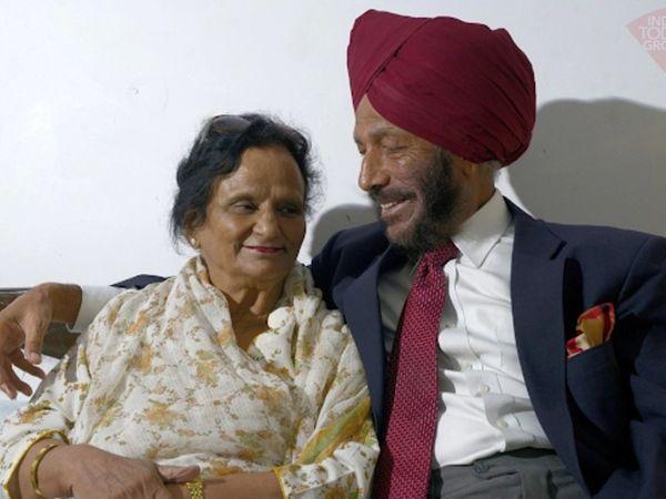 मिल्खा सिंह ने 1962 में पंजाब की निर्मल कौर से शादी की थी। - Dainik Bhaskar