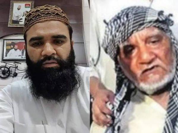 सपा नेता उम्मेद पहलवान (बाएं) और पीड़ित अब्दुल समद (दाएं)। उम्मेद पहलवान ही सबसे पहले समद को लेकर मीडिया के सामने आए थे।