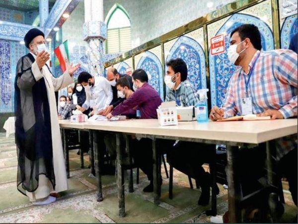 तेहरान में राष्ट्रपति चुनाव के उम्मीदवार इब्राहिम रईसी ने मतदान किया। - Dainik Bhaskar