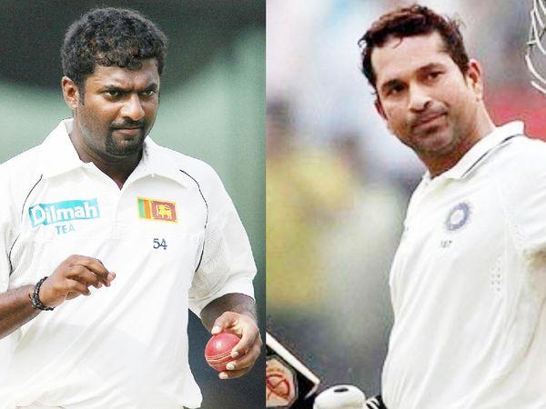 श्रीलंका के पूर्व स्पिनर मुरलीधरन ने टेस्ट क्रिकेट में सबसे ज्यादा 800 विकेट लिए। वहीं सचिन के नाम टेस्ट में सबसे ज्यादा रन का रिकॉर्ड है। - Dainik Bhaskar