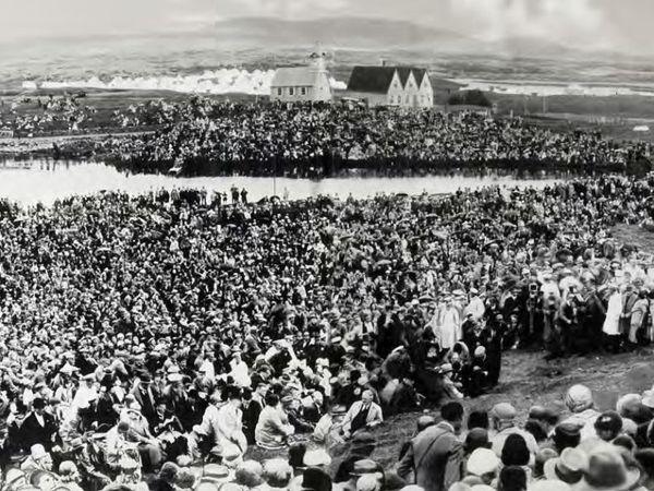 आल्थिंग की स्थापना के 1 हजार साल पूरे होने पर 1930 में एक बड़ा आयोजन किया गया, जिसमें पूरे आइसलैंड के नागरिक शामिल हुए।
