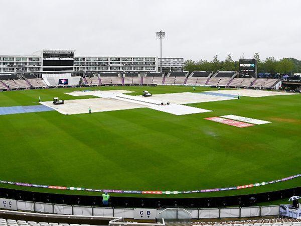 वर्ल्ड टेस्ट चैंपियनशिप फाइनल के चौथे दिन सोमवार को बारिश की वजह से दिन का खेल नहीं हो सका। - Dainik Bhaskar
