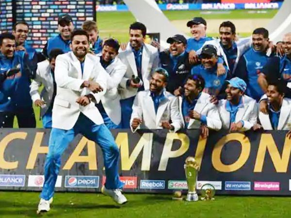 आज ही के दिन टीम इंडिया ने चैंपियंस ट्रॉफी जीती थी। विराट कोहली और रवींद्र जडेजा ने इस जीत में अहम योगदान दिया था। - Dainik Bhaskar
