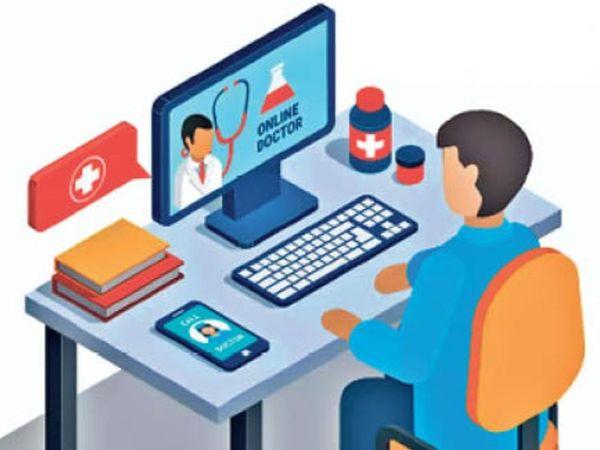 शहर के मनोचिकित्सकों के पास बच्चों में मोबाइल और इंटरनेट की लत के कई मामले आ रहे हैं। - Dainik Bhaskar