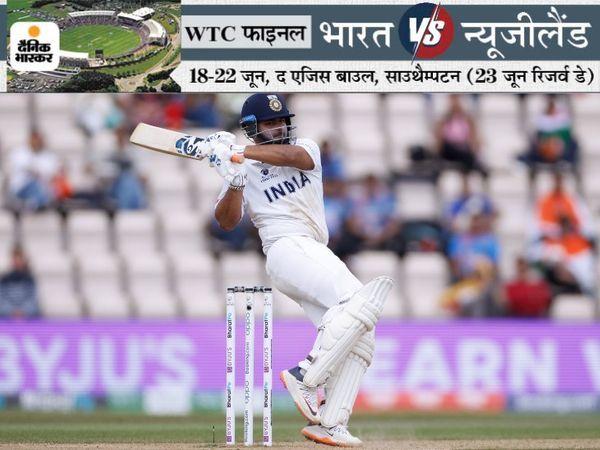 दूसरी पारी में ऋषभ पंत ने 41 रन की पारी खेलकर टीम को संभाला।