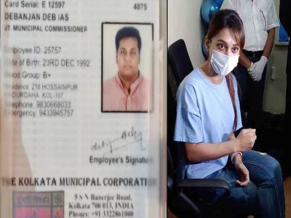 फर्जी आईएएस अधिकारी बनकर वैक्सीनेशन कैंप लगाने वाले जिस व्यक्ति को पुलिस ने गिरफ्तार किया है, उसके झांसे में आकर टीएमसी सांसद मिमी चक्रवर्ती भी वैक्सीन लेने पहुंच गई। - Dainik Bhaskar