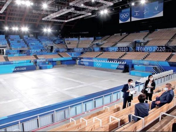 आईओसी के उपाध्यक्ष जॉन कोट्स  और टोक्यो 2020 की अध्यक्ष हाशिमोतो ने जिम्नास्टिक सेंटर का दौरा किया। - Dainik Bhaskar