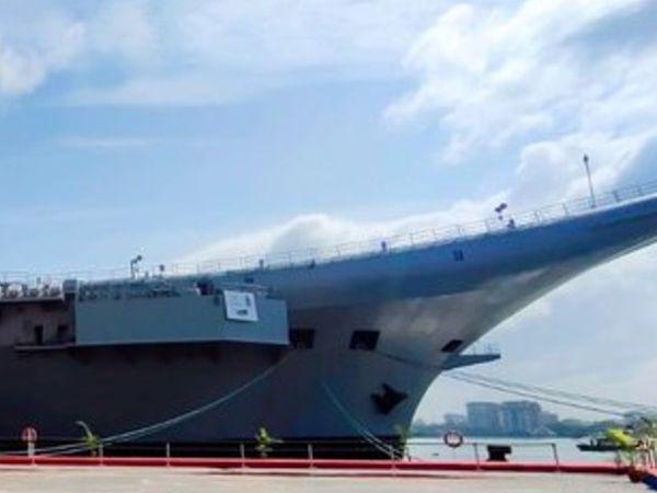 INS विक्रांत भारत का पहला स्वदेशी एयरक्राफ्ट कैरियर है। इसे भारतीय नौसेना ने तैयार किया है। - Dainik Bhaskar