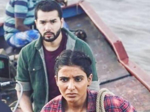 शाहब अली और सामंथा अक्किनेनी वेब सीरीज 'द फैमिली मैन 2' के एक सीन में। - Dainik Bhaskar