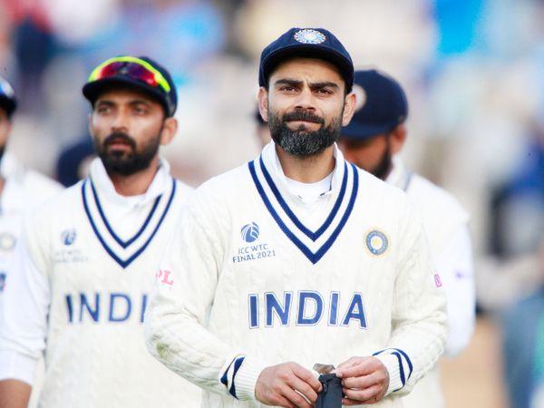 WTC फाइनल में टीम इंडिया को न्यूजीलैंड के हाथों 8 विकेट से हार का सामना करना पड़ा था। भारत इस मैच से पहले प्रैक्टिस नहीं कर पाई थी। - Dainik Bhaskar