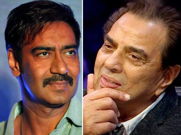 अजय देवगन और धर्मेंद्र। - Dainik Bhaskar