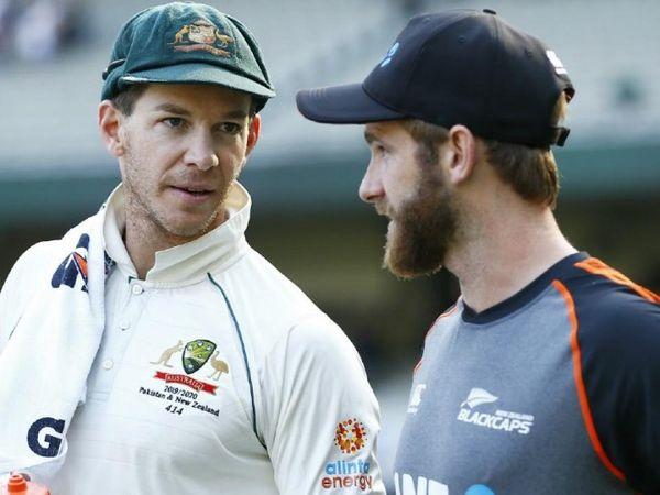 ऑस्ट्रेलियाई टेस्ट टीम के कप्तान टिम पेन और न्यूजीलैंड के कैप्टन केन विलियम्सन। -फाइल फोटो - Dainik Bhaskar