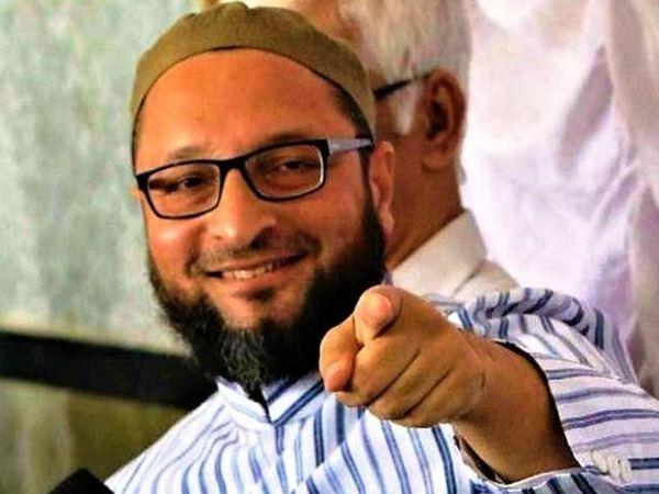 AIMIM चीफ ओवैसी ने सोशल मीडिया पोस्ट में कहा कि वह यूपी चुनाव में अपने 100 उम्मीदवार उतारेंगे। - Dainik Bhaskar