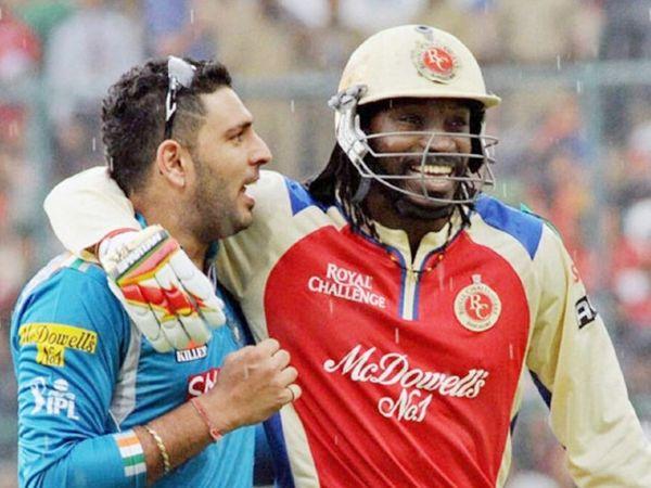 पूर्व भारतीय क्रिकेट युवराज सिंह IPL में खेल चुके हैं। वेस्टइंडीज के ओपनर क्रिस गेल लीग में अब भी खेलते हैं। -फाइल फोटो - Dainik Bhaskar