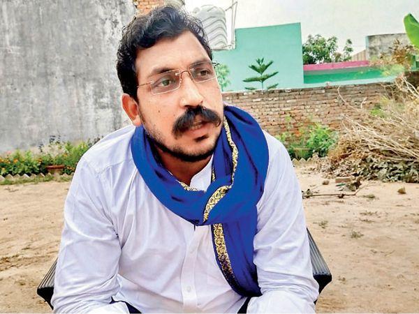 दलित राजनीति के युवा चेहरे और आजाद समाज पार्टी के अध्यक्ष चंद्रशेखर आजाद - Dainik Bhaskar