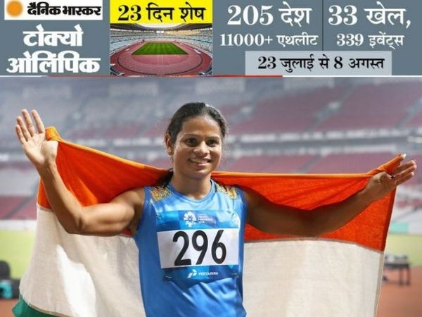 दुती चंद 100 मीटर और 200 मीटर दोनों रेस में देश का प्रतिनिधित्व करेंगी। - Dainik Bhaskar