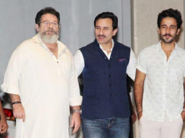 सैफ अली खान और पिता कुणाल कपूर के साथ जहान।