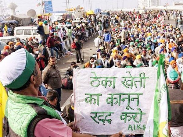 संयुक्त किसान मोर्चा लेटर लिखकर विपक्षी दलों से यह निश्चित करने के लिए कहेगा कि मानसून सेशन का इस्तेमाल किसान आंदोलन के समर्थन के लिए किया जाए। - फाइल फोटो - Dainik Bhaskar