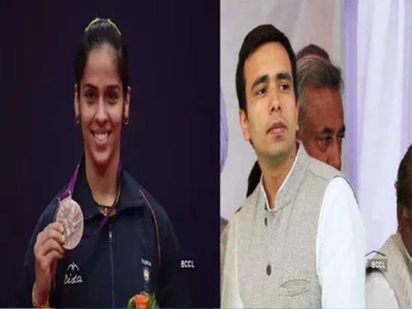 साइना ने शनिवार रात एक ट्वीट कर मुख्यमंत्री को जिला पंचायत अध्यक्ष पद के चुनाव में भाजपा की जीत के लिए बधाई दी थी। - Dainik Bhaskar