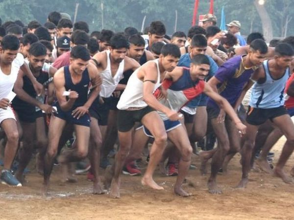 भर्ती में सबसे पहले युवाओं को दौड़ लगवाई जाएगी।