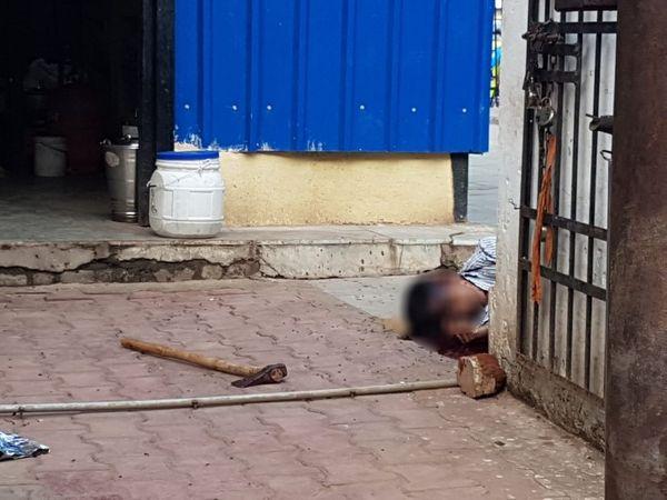 जब मंगलवार को पुलिस मौके पर पहुंची तो मृतक इस हाल में मिला।