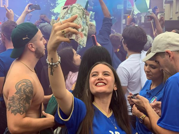 Italy's victory was also celebrated in a grand manner in the Canadian city of Toronto.