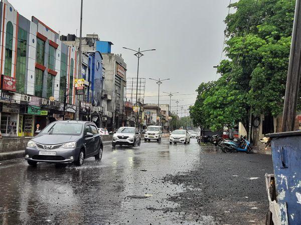 पंजाब के अमृतसर में बारिश के बाद मौसम सुहावना हो गया।
